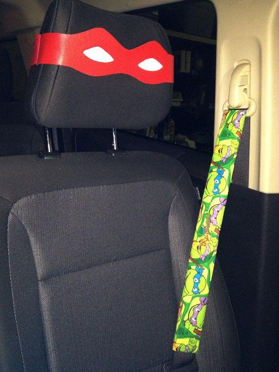 Custom Embroidery For TMNT Set Teenage Mutant Ninja Turtles Seat Belt Cover She Made Me All 4 Jeep