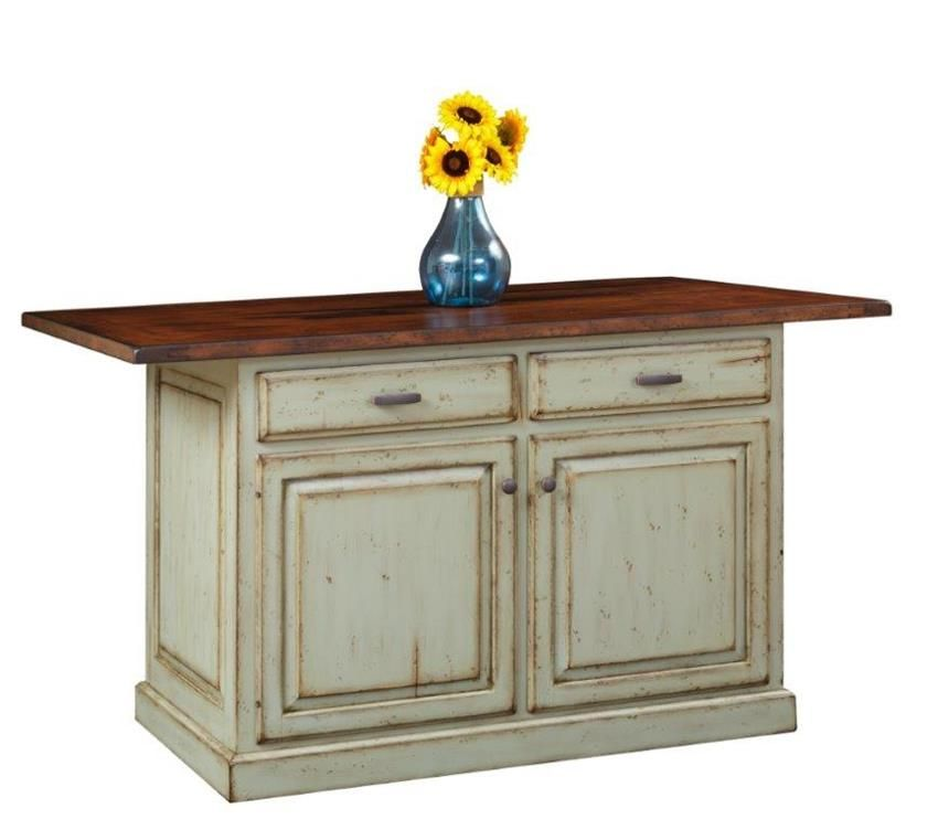 Country Kitchen Islands With Seating: Amish Country Style Traditional Kitchen Island