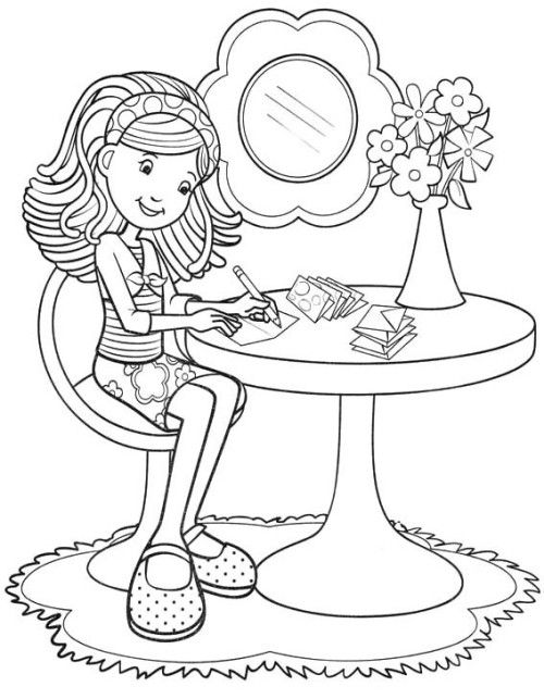 Groovy Girls Are Writing Letters Coloring Pages Coloring Pages
