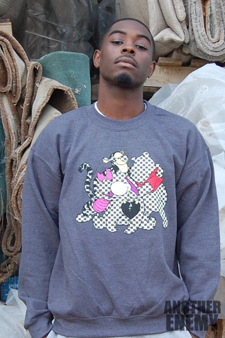 Louis and the Gang Crewneck in Grey - $65.00 - www.AnotherEnemy.com - Another Enemy