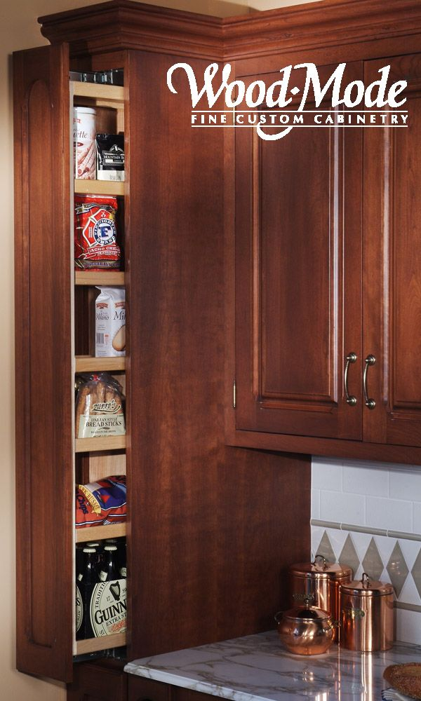Pull-out pantry - photo courtesy of Wood-Mode Cabinetry ...