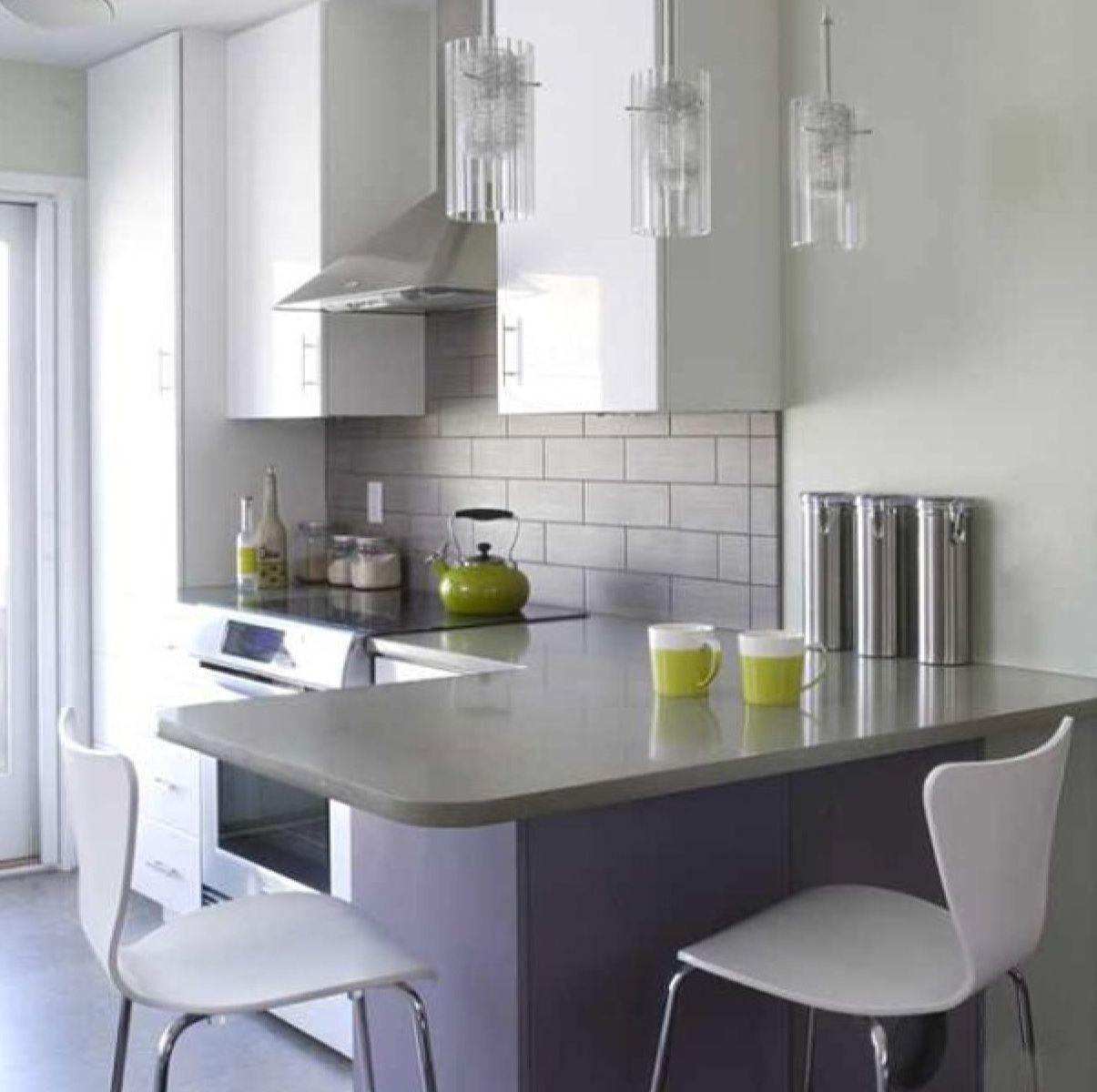 Grey stone backsplash with white cabinets? | Cocinas | Pinterest ...