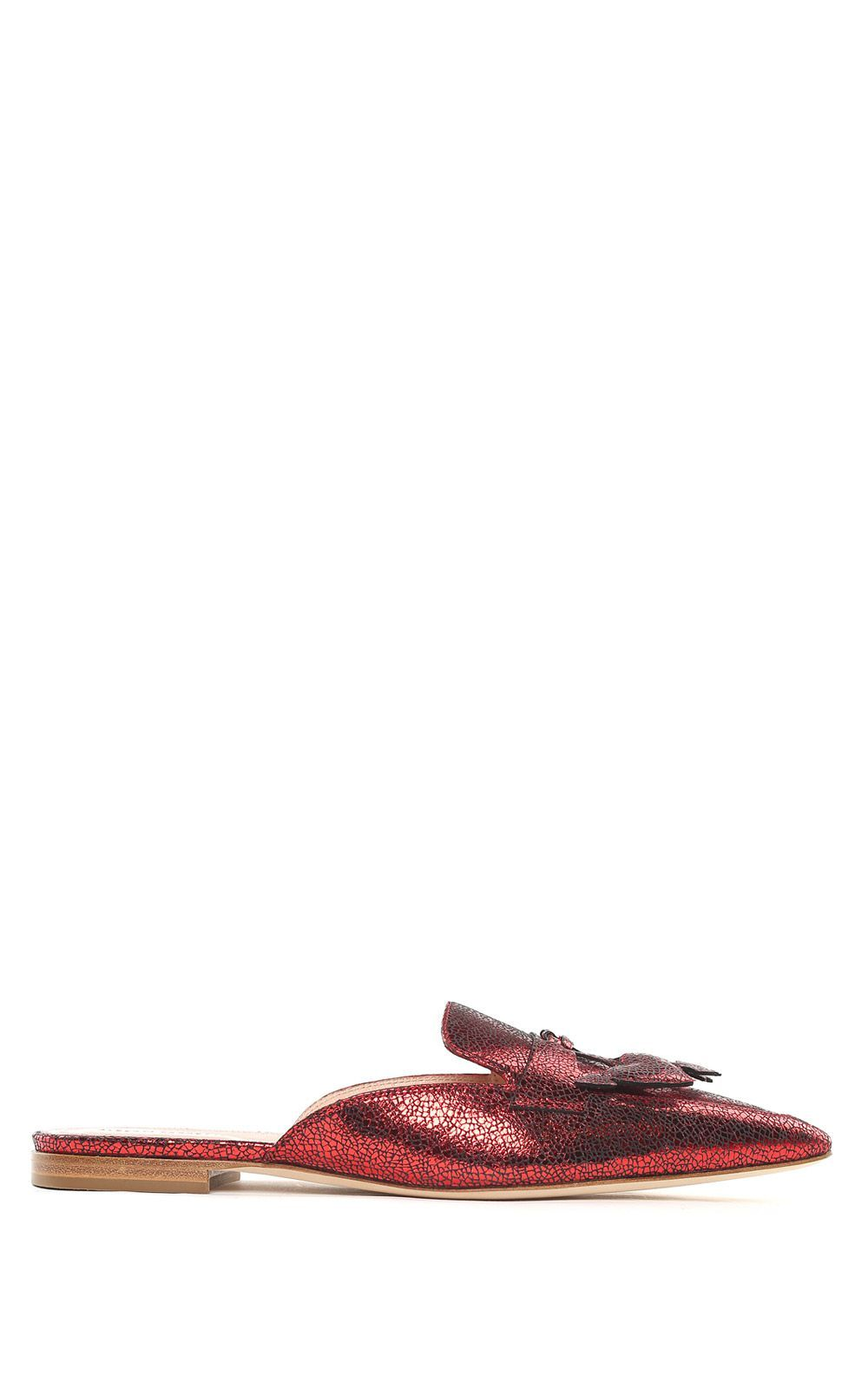 Mia metallic-leather backless loafers Alberta Ferretti S97QFBvZs
