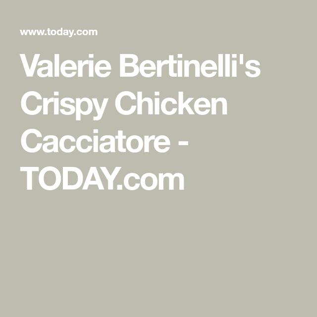 Valerie Bertinelli makes healthy chicken cacciatore in just one pan #valeriebertinellirecipes