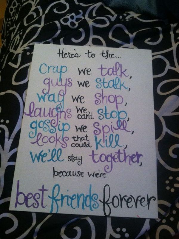 Bestfriend Present Ideas 2 Best Friend Canvas