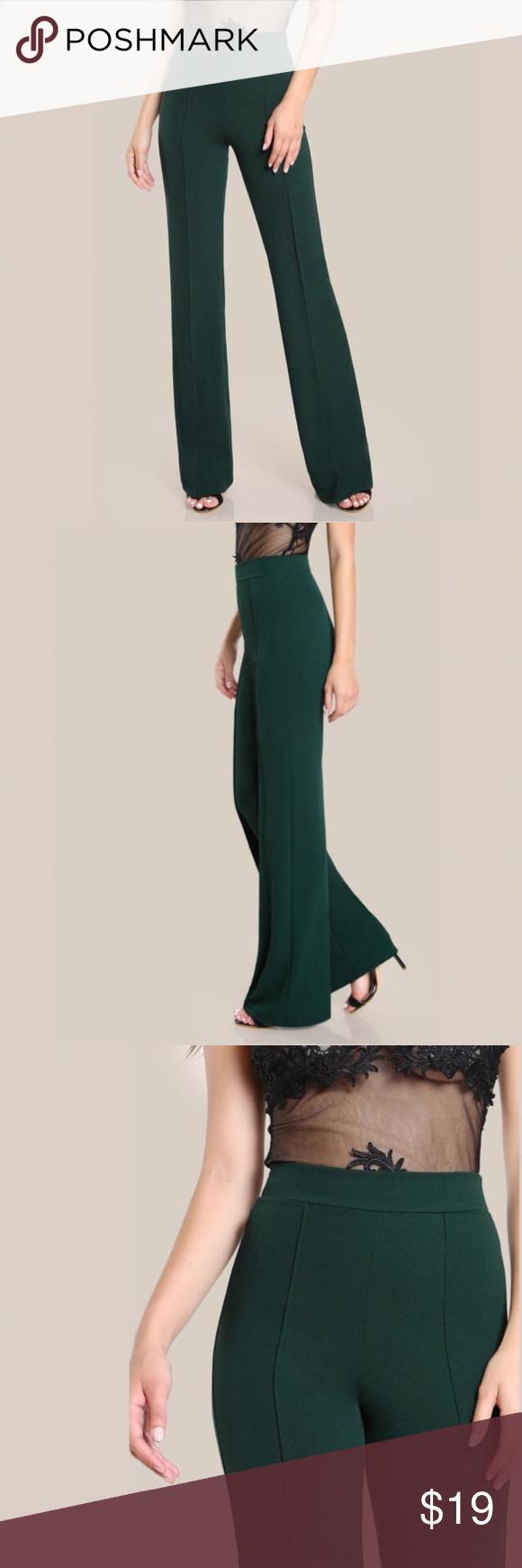 Green dress night out  High Piped Dress Pants in Dark Green NWT  My Posh Picks  Pinterest