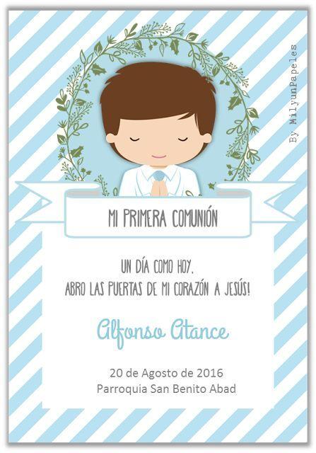 Mil y un papeles mi primera comuni n primera comuni n pinterest communion first - Marcos economicos ...
