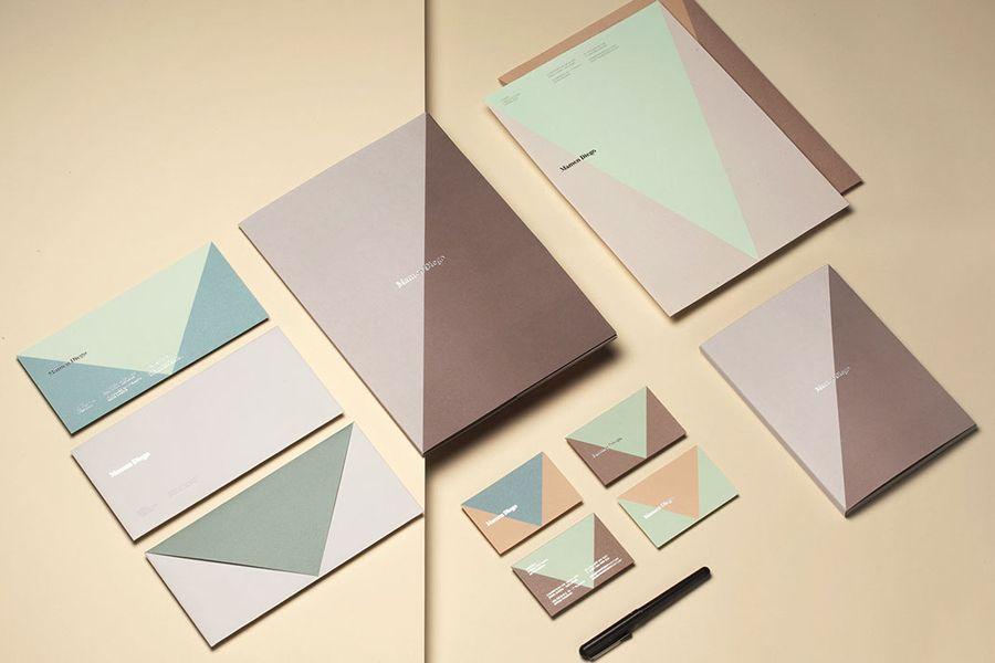 Branding by graphic design studio Atipo for Spanish architecture and interior design firm Mamen Diego.