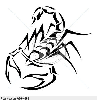 This is a strong scorpion.  These are just smaller shaped that make up a bigger shape, a scorpion.  I like how the artist used different sizing and overlapping to make the scorpion look three dimensional.
