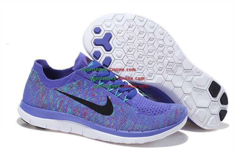 new arrivals 2be44 d3571 Fashion Nike Free 4.0 Flyknit Women Shoes Purple White Black