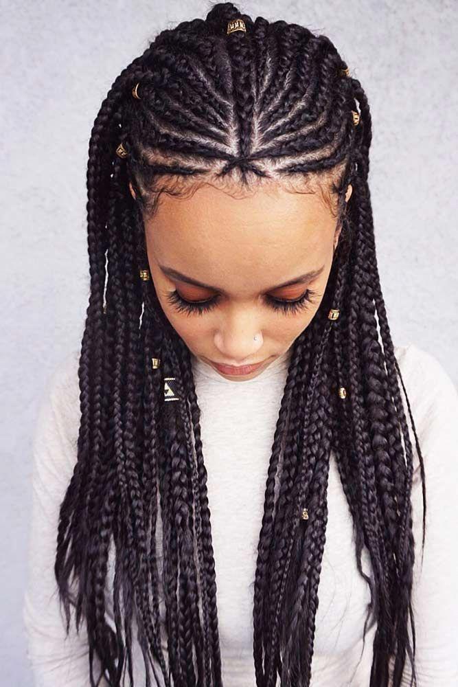 Fulani Braids #FulaniBraids Updo #goddessBraided # fulani Braids with yarn # fulani Braids with yarn