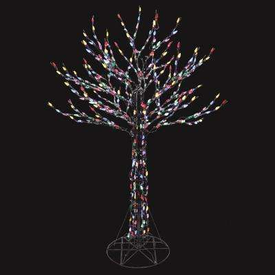 6 Ft Led Deciduous Tree Sculpture With Multi Color Lights Tree Sculpture Christmas Yard Decorations Outdoor Christmas Decorations Yard