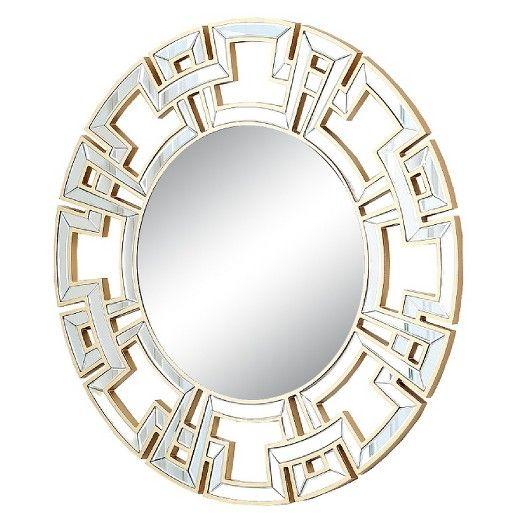 Round Kaydence Decorative Wall Mirror Light Gold - Abbyson Living ...