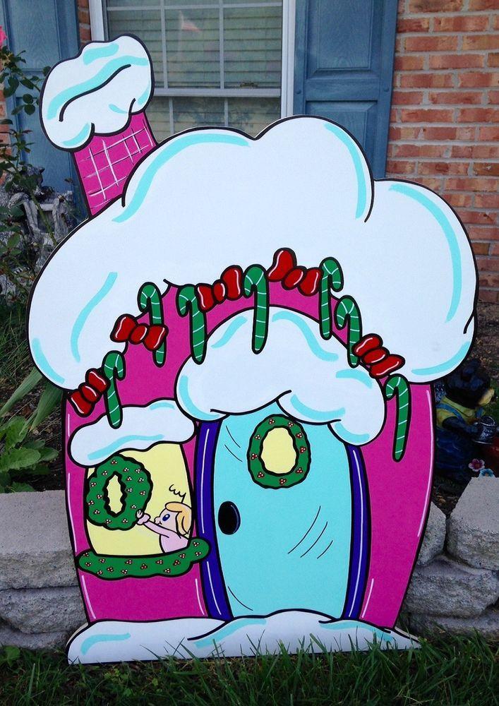 Grinch Yard Art Cindy Lous House Grinch Yard Art