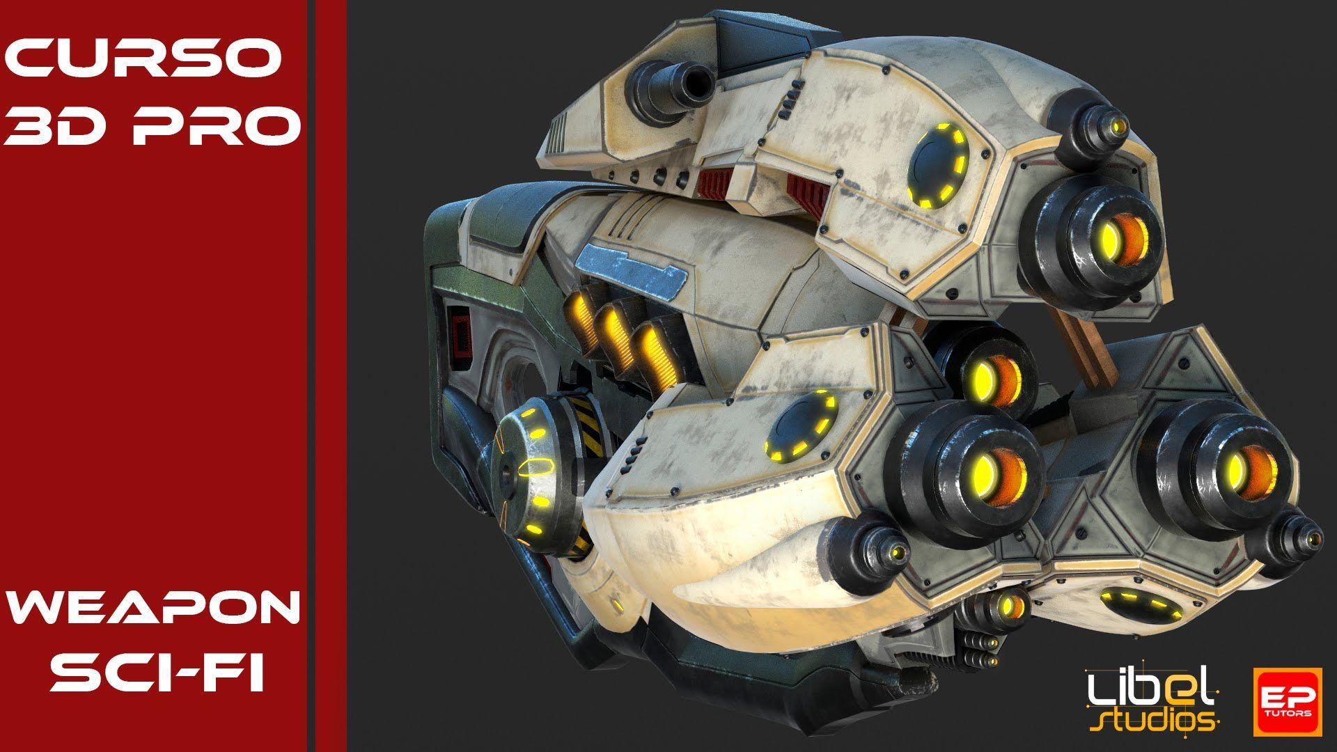 Curso Pro Modelado Weapon Sci Fi Modelos Curso 3d