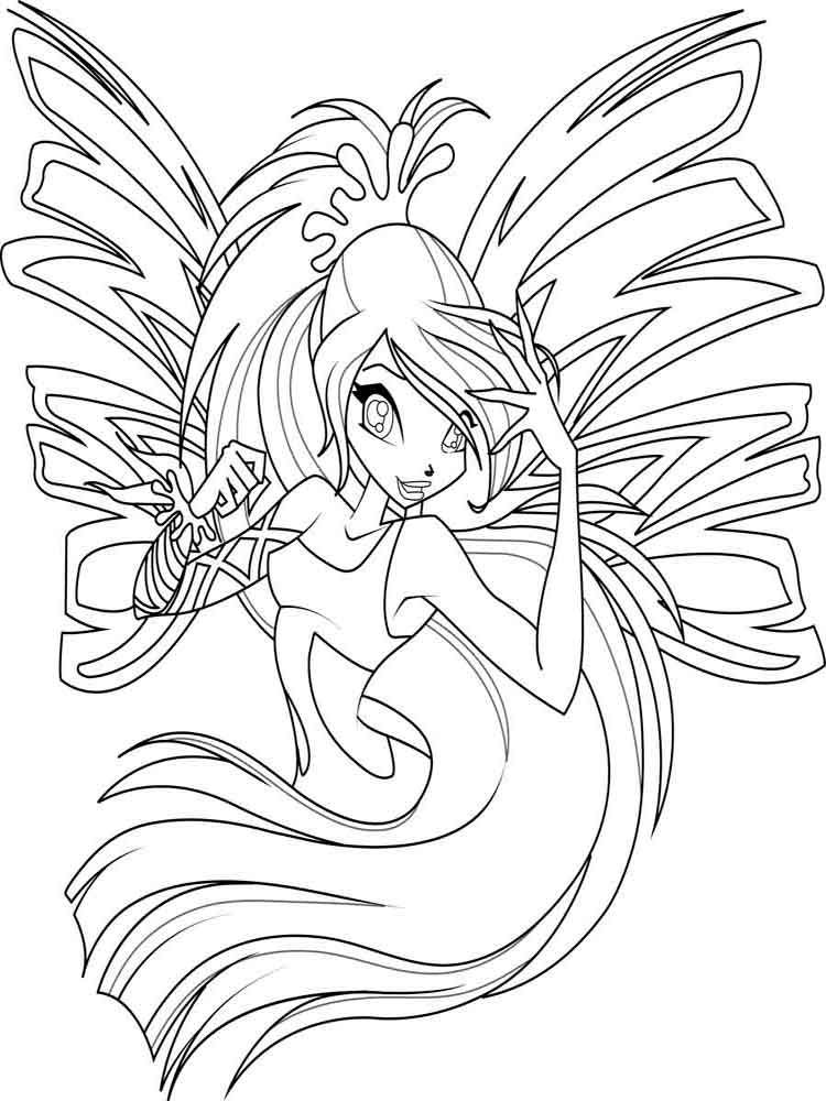 Winx Club Coloring Pages Download And Print
