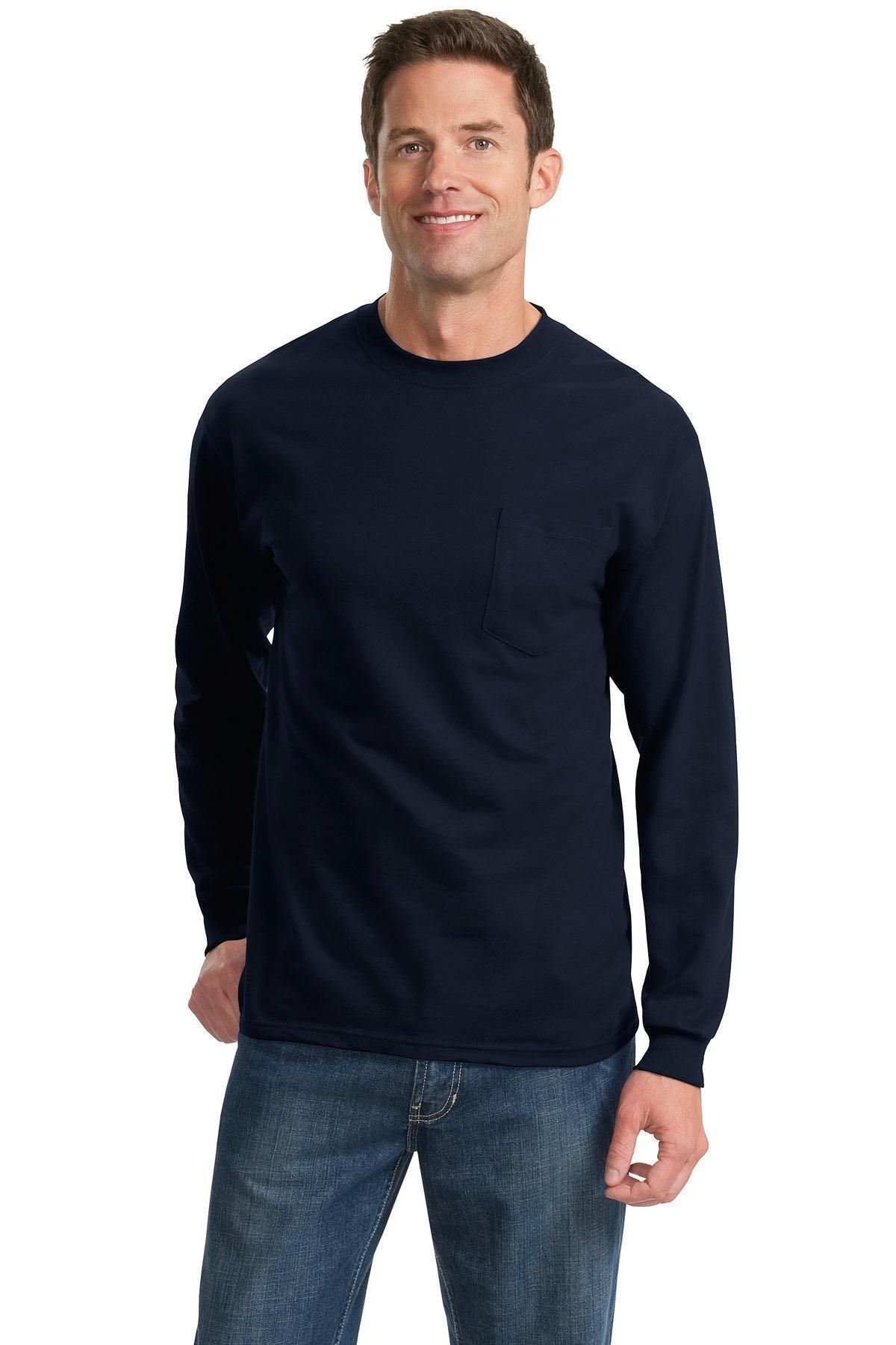 Port Company Tall Long Sleeve Essential Pocket Tee Pc61lspt