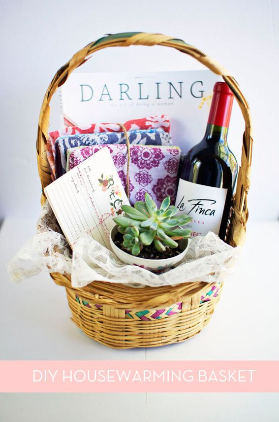 How to make the perfect diy housewarming basket also rh za pinterest