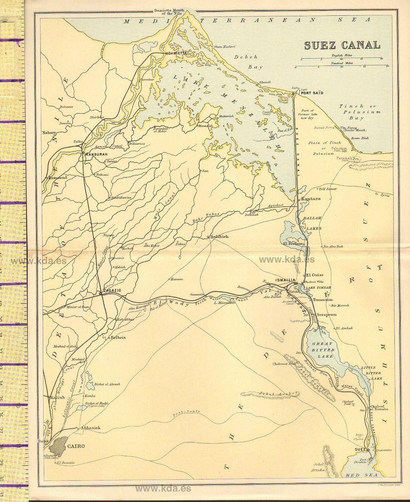 MAP SUEZ CANAL ISMAILIA ZAGAZIG MANSURAH DAMIETTA Maps Of - Map of zagazig egypt
