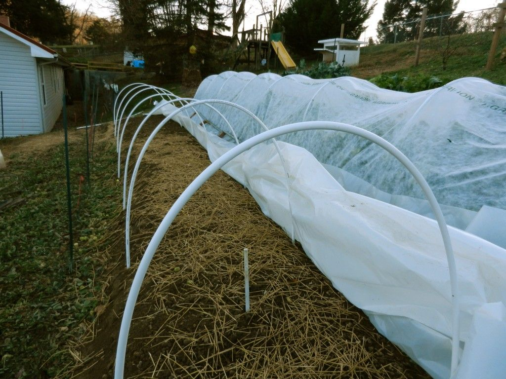 how to build quick hoops for winter gardening cheap and easy