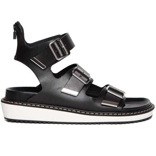 GIVENCHY 'SWISS' 3 BUCKLE LEATHER