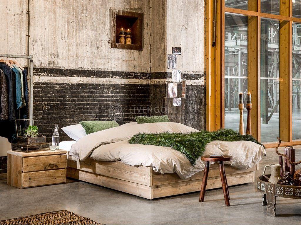 Steigerhout bed bando bedden slaapkamer en model