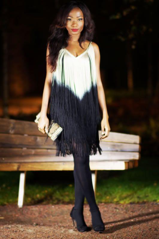 AllisBelle #partyoutfit #fringeddress #dress