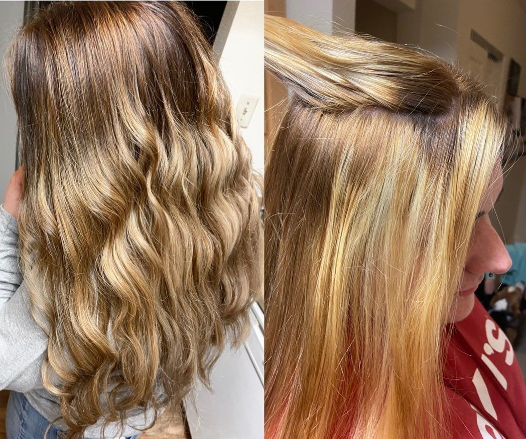 COLOR CORRECTION ALERT Its amazing what a reverse balayage and toning  COLOR CORRECTION ALERT Its amazing what a reverse balayage and toning