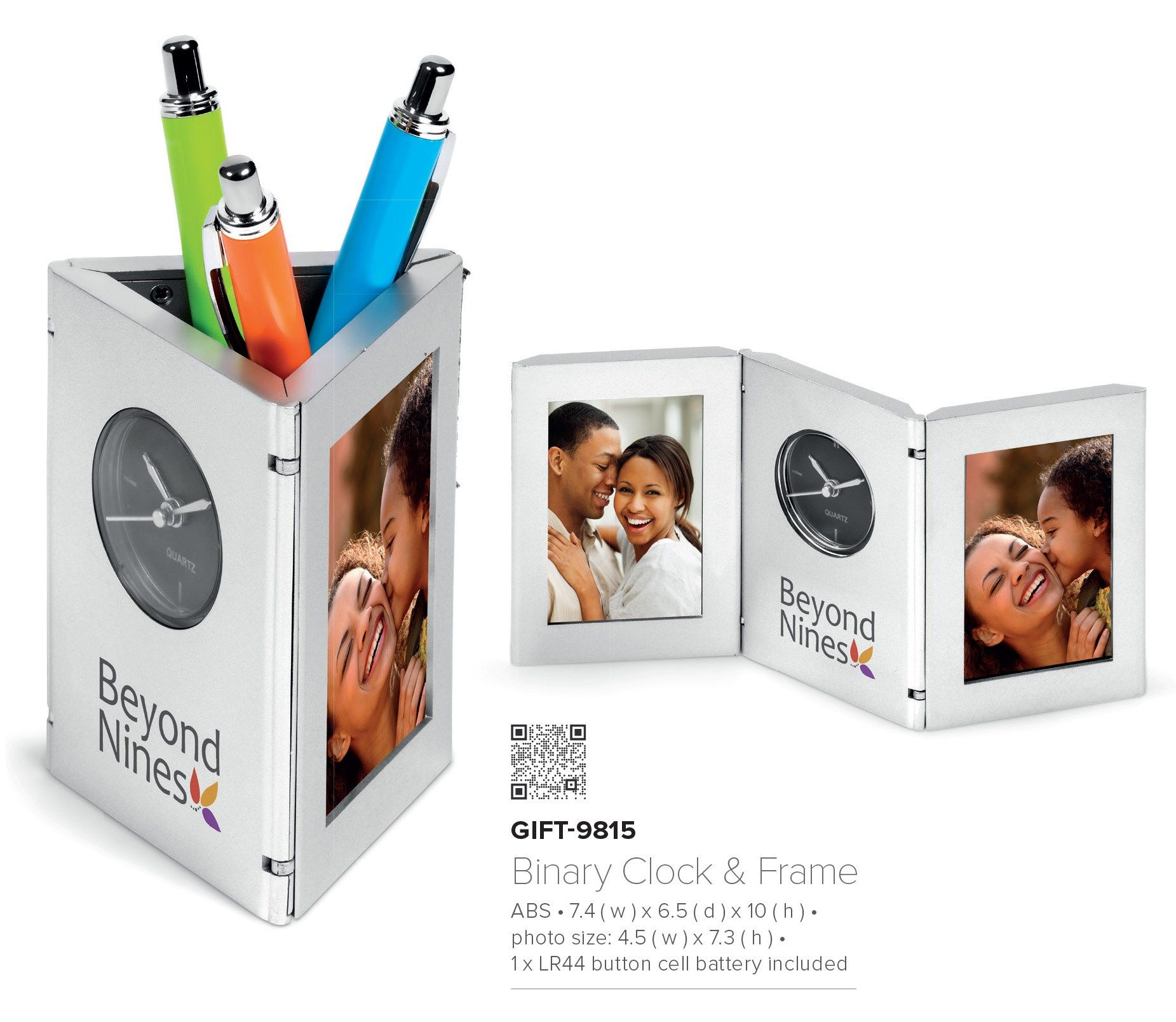 Corporate Gifts For Office Desk Clock Pen Holder Photo Frame Combo W