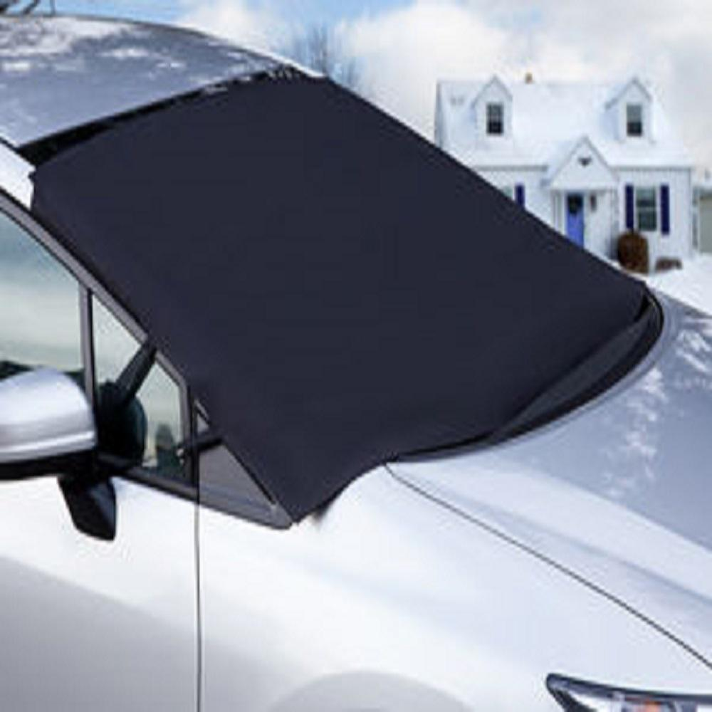 Car Snow Cover Car Windshield Snow Cover Winter Cars Front Windshield Snow Covers Protects Windshield and Wipers from Weatherproof Frost Fits for Most Vehicles Rain Sun