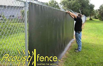 Noise Reducing Material Acoustifence Is Being Installed