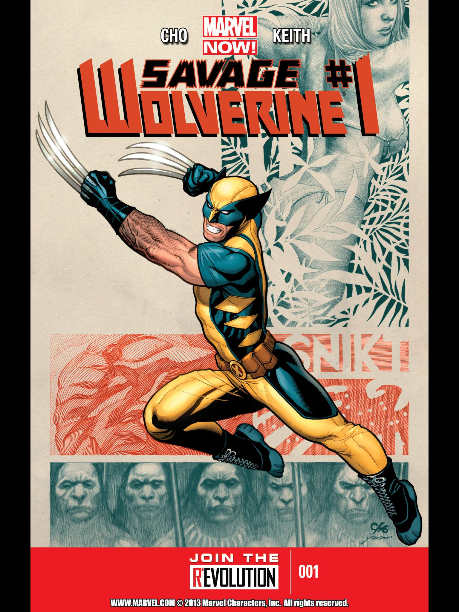 2013 MARVEL NOW! SAVAGE WOLVERINE #1 ART /& COVER FRANK CHO STORY