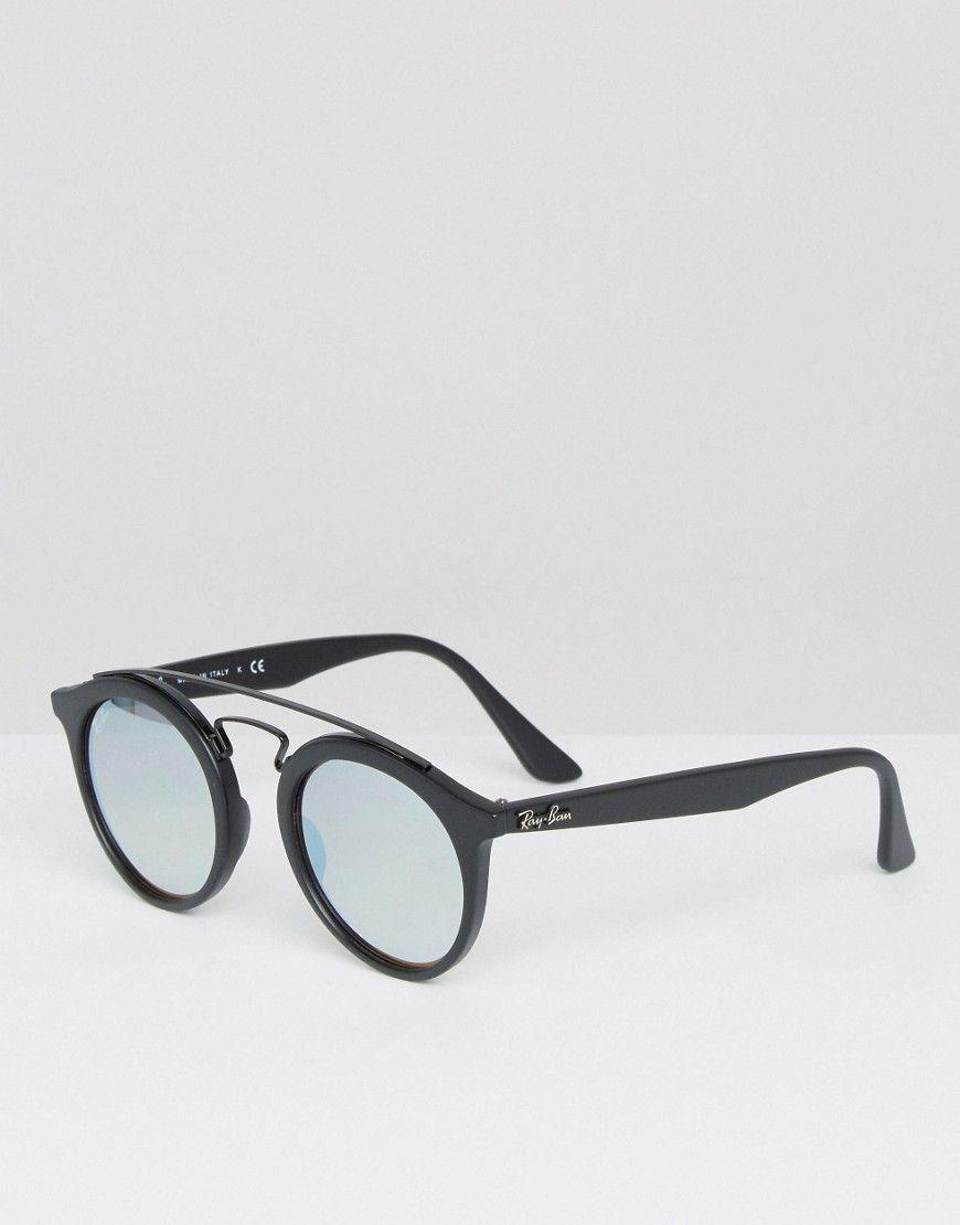039f5e5df988d Óculos · Feminino · Ray-Ban - Gatsby - Sonnenbrille mit silbernen Gläsern -  Schwarz - Farbe Schwarz
