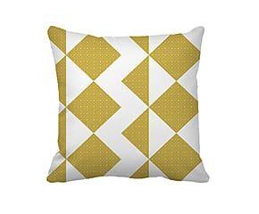 Kussen zigzag geel wit cm relaxroom