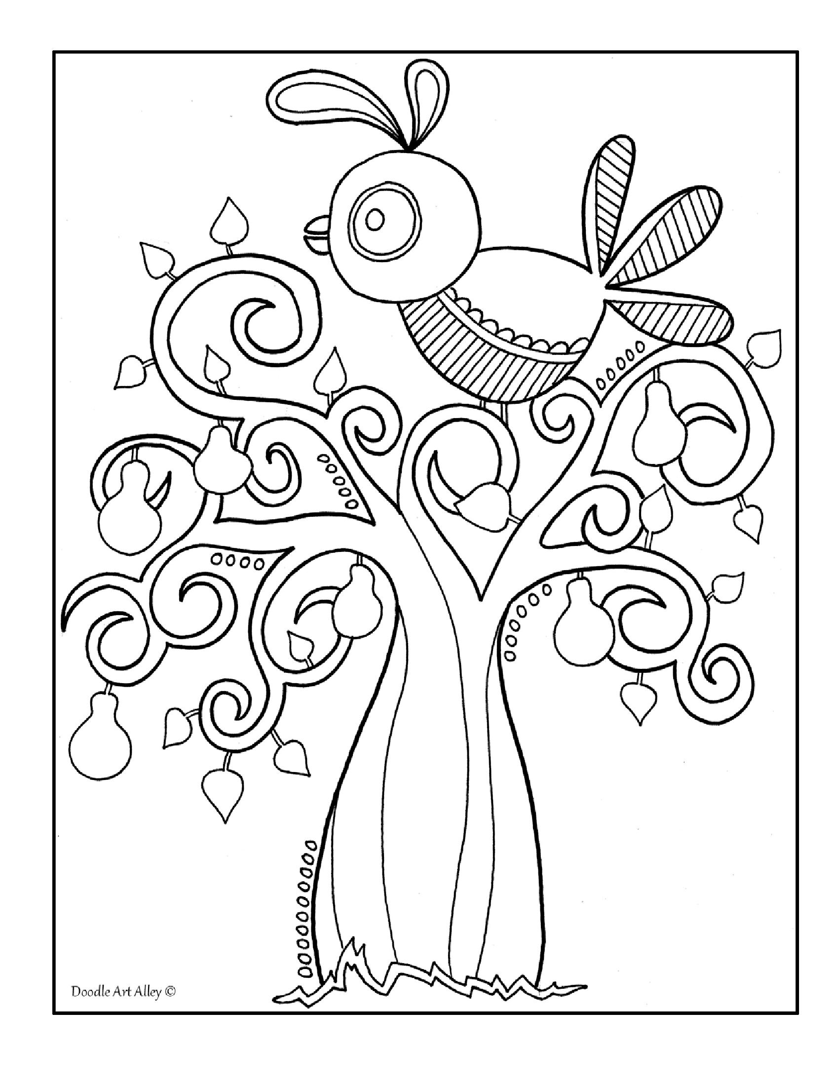 Twelve Days of Christmas doodle book | Holiday Ideas | Pinterest ...
