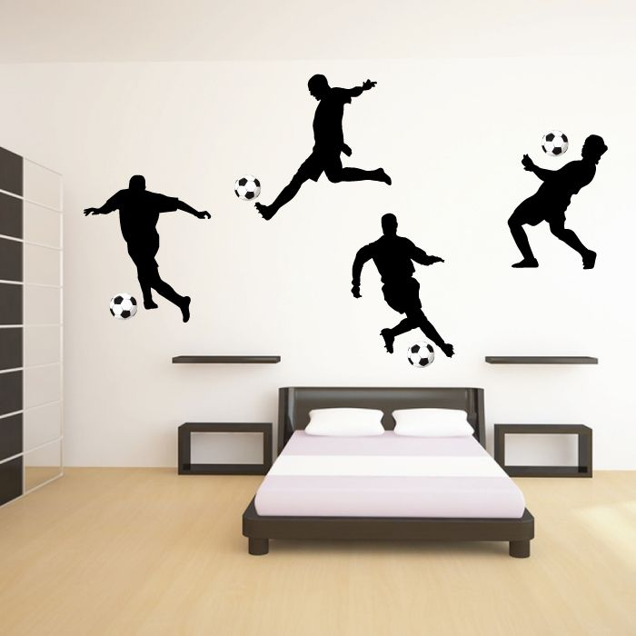 Footballer Wall Sticker Set £24 | MURALES | Pinterest | Wall ...