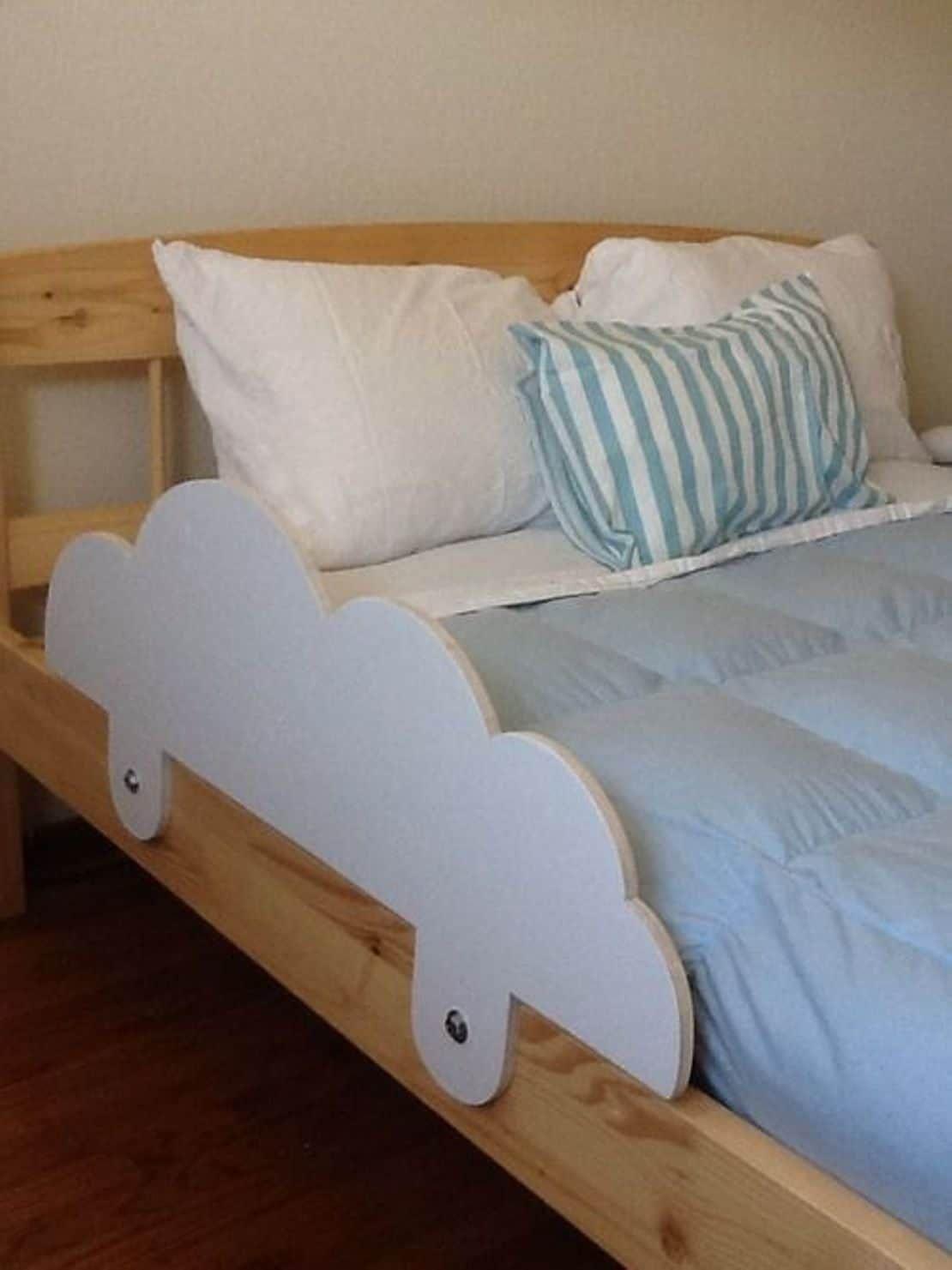 Functional Toddler Bed Rails In 2020 Diy Toddler Bed Bed Rails For Toddlers Toddler Bed Frame