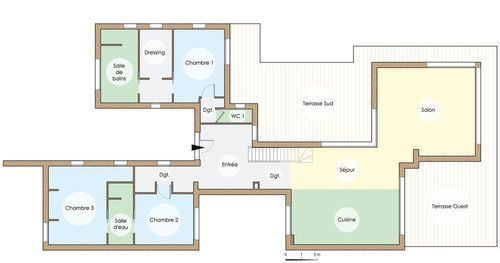Une maison chaleureuse et écologique