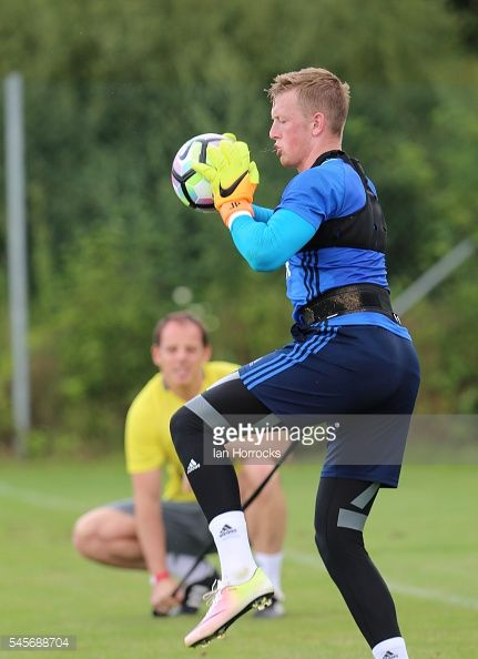 LAA AN DER THAYA, AUSTRIA - JULY 09: Jordan Pickford works on a... #haibachobderdonau: LAA AN DER THAYA, AUSTRIA - JULY… #haibachobderdonau