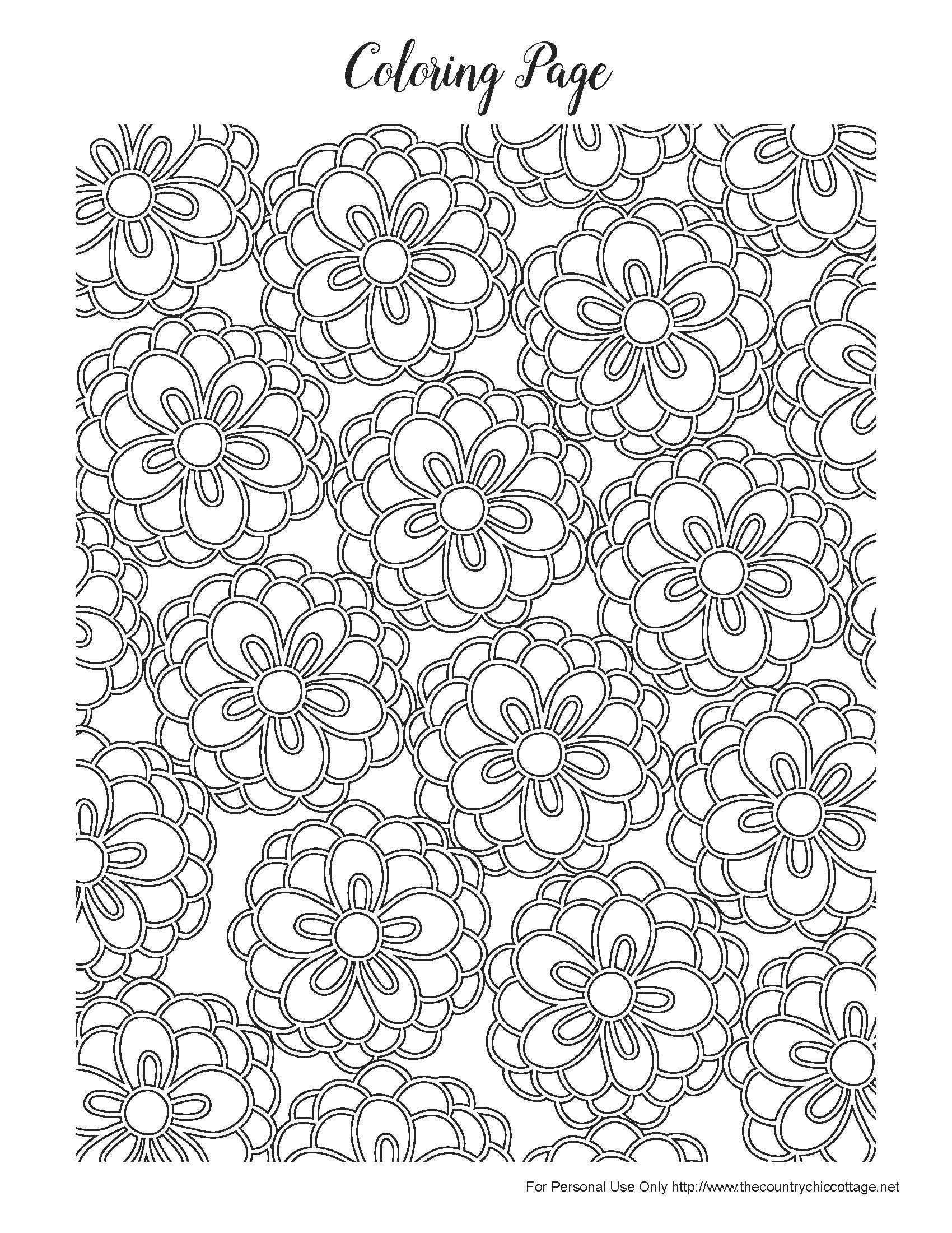 Free Spring Coloring Pages for Adults | Pretty flowers, Background ...