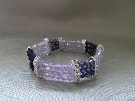 Swarovski crystal bracelet by VictorianPunkJewelry on Etsy, $20.00