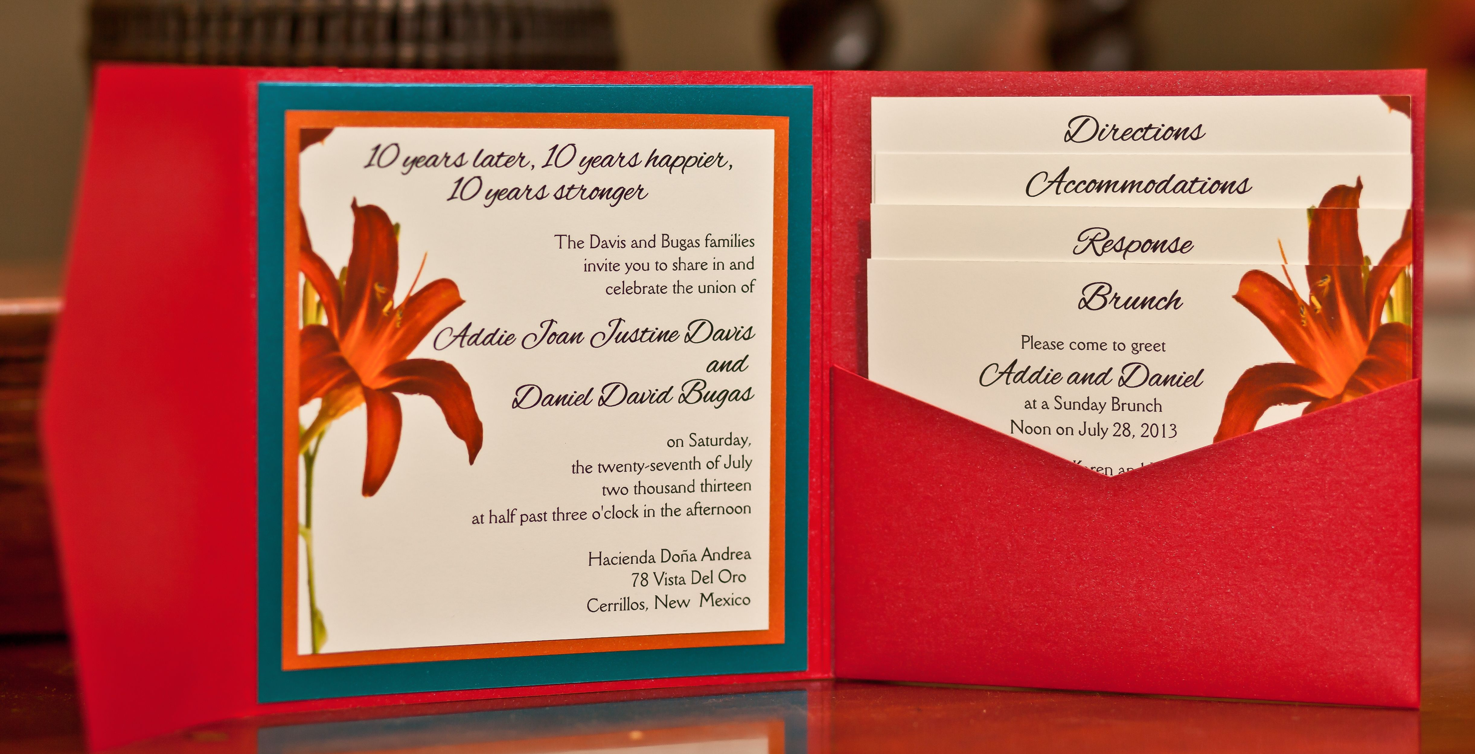 Differently Designed custom wedding invitations New Mexico ...