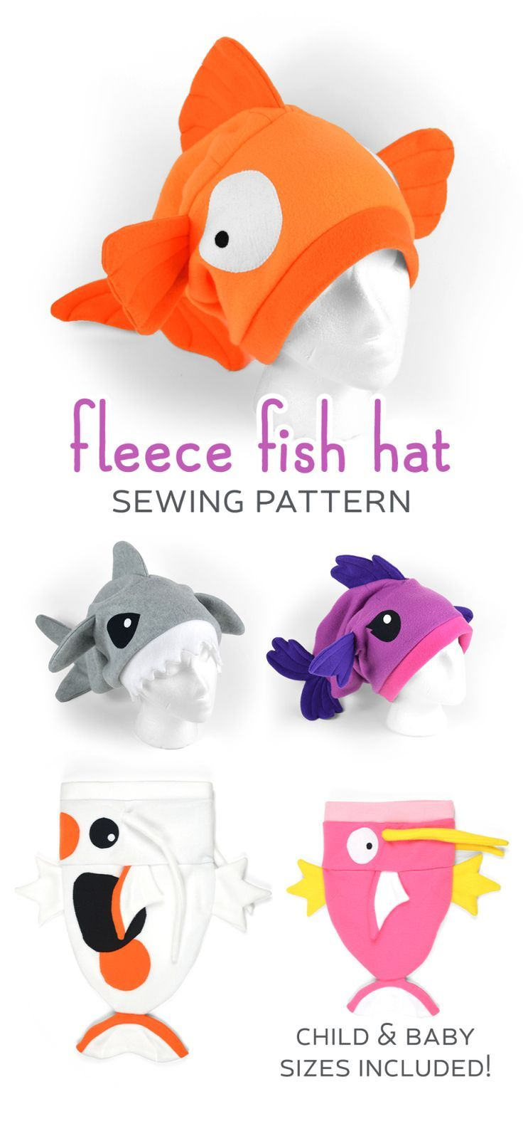 New Shop Pattern! Fleece Fish Hat #knittingpatternstoys