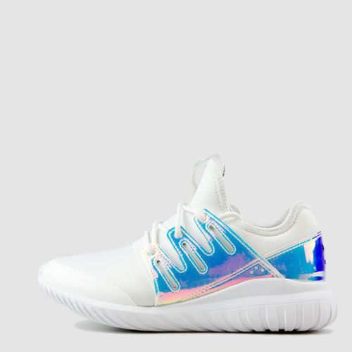 hot sale online 127d3 0e84d Kids Womens Adidas Tubular Radial Iridescent Hologram Metallic Aq6281 Size  4Y-7Y
