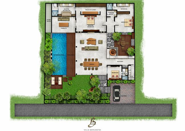 Interesting Bali House Designs Floor Plans Ideas Exterior Ideas 3d