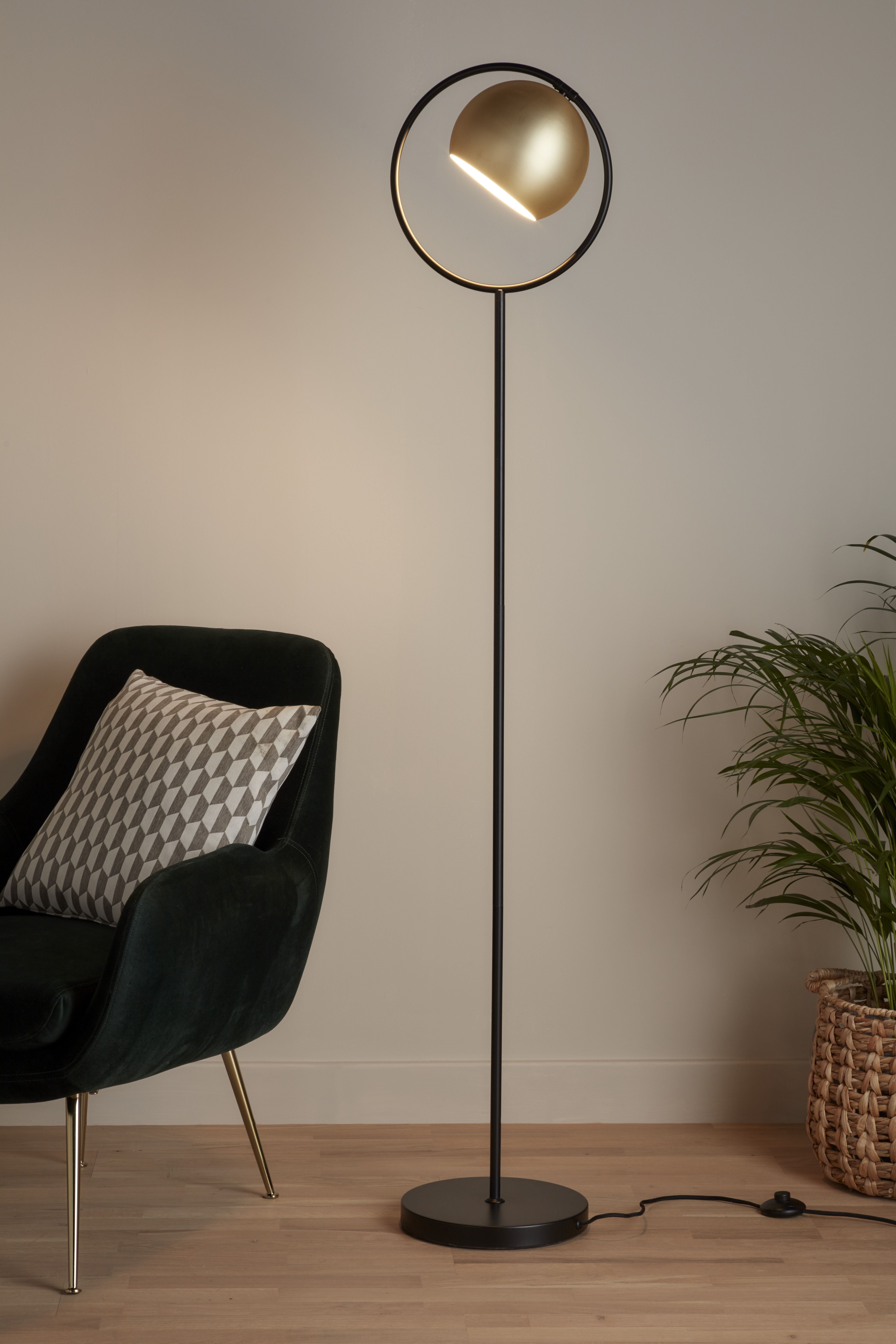 Lampa Podlogowa Goodhome Toroba 1 Punktowa E27 Czarna Zlota Lampy Podlogowe Decor Home Decor Home Appliances