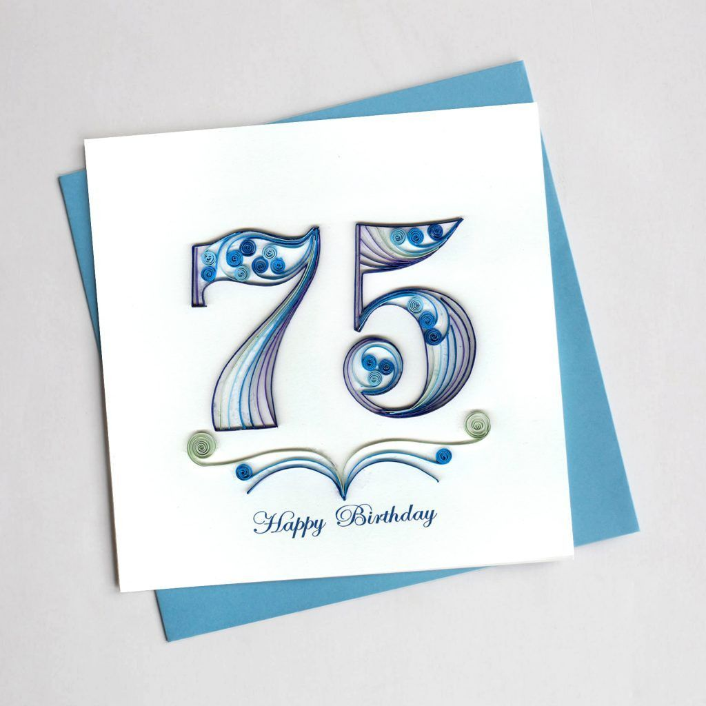 75th Birthday Quilling Card Paper Quilling Designs Paper Quilling Cards Quilling Designs