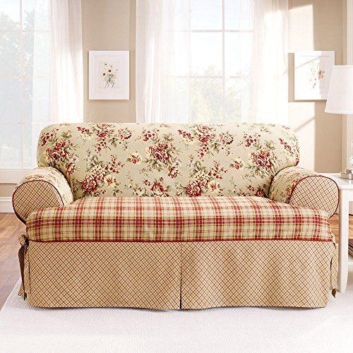 Plaid Sofa Slipcovers Sure Fit Highland Holiday Plaid Sofa