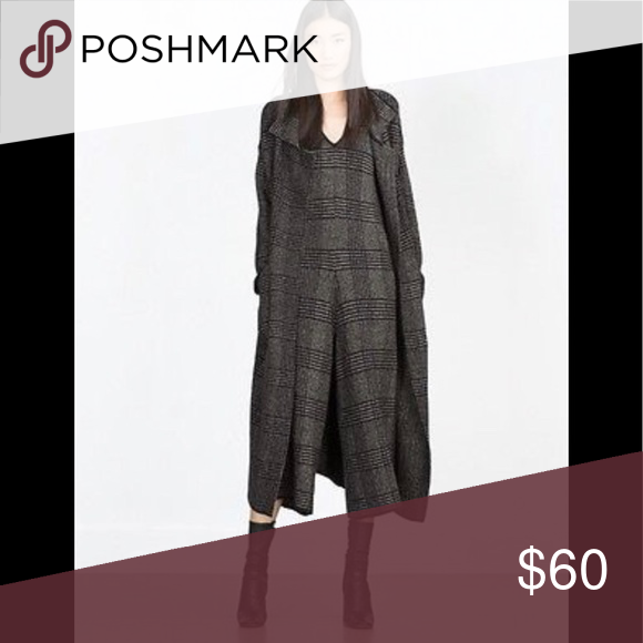 2b7dfde0754 Zara plaid knit jumpsuit Black and gray knit jumpsuit. NWT (coat not  included). Zara Pants Jumpsuits   Rompers