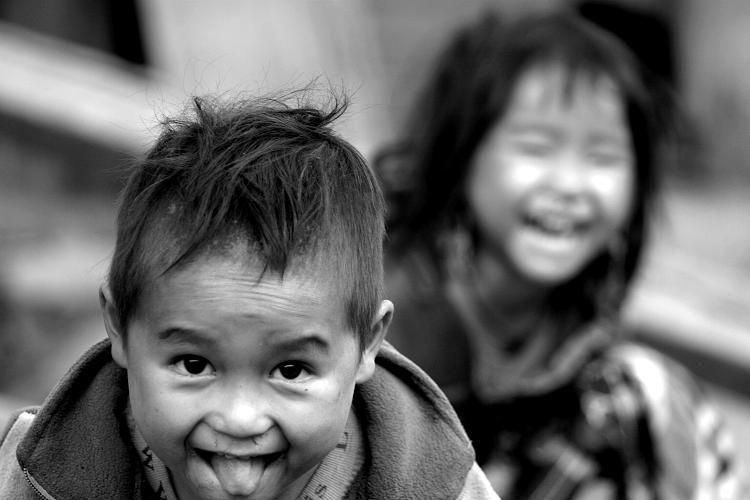 Happy Village Children | Hoang Lien Mountains | Vietnam | Photographyer: Ondřej Getzel